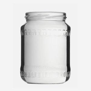 Schraubglas 720ml, Weißglas, Mdg.: TO82