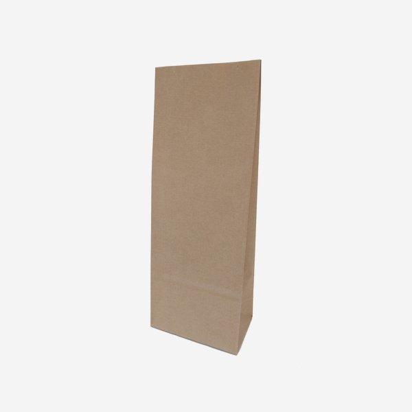 Blockbodenbeutel, 100% Papier, braun, groß