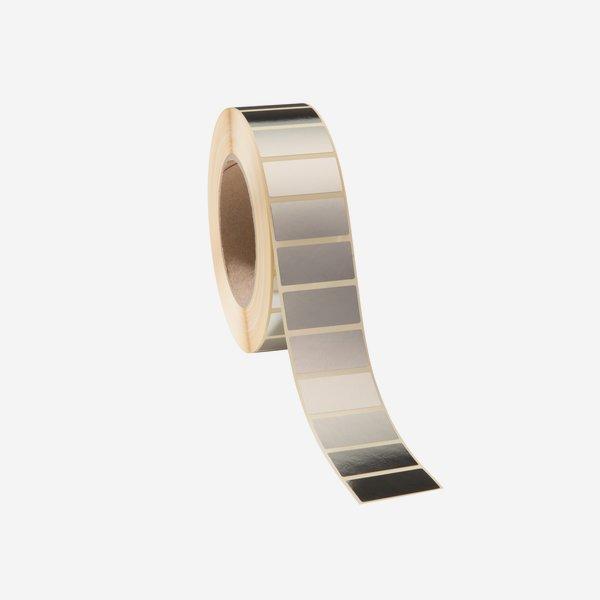 Etikette 19x38mm, Silvervac, glänzend