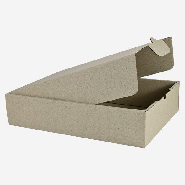 Geschenkkarton aus Graspapier 38x26,5x8,5cm