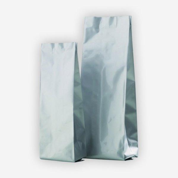 Vakuum-Kaffeebeutel 500g, silber, ohne Ventil