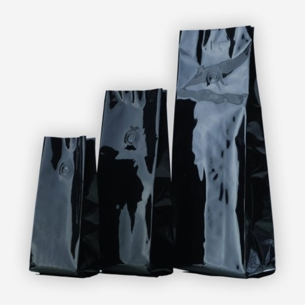 Vakuum-Kaffeebeutel 1000g, schwarz, mit Ventil