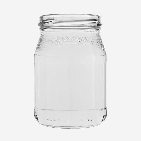 Joghurtglas 250ml, Weißglas, Mdg.: TO63