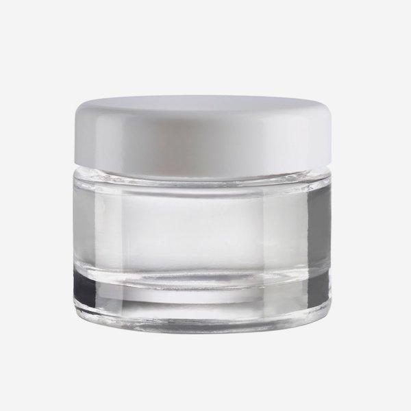 Kosmetik Glastiegel 30ml, Klarglas, Mdg.:KOV-30WEX