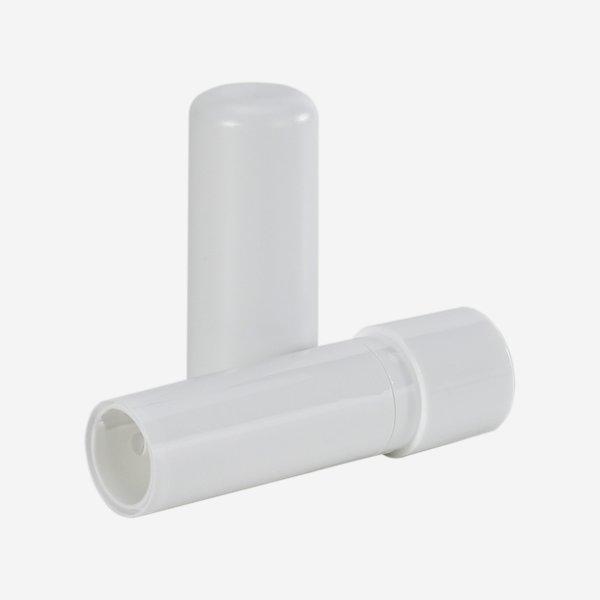 Lippenstifthülse - Kappe weiß matt + Mechanik weiß