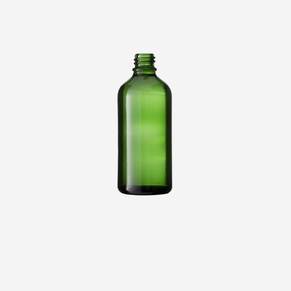 Tropfflaschen aus Grünglas, 100ml, Mdg.: gl-18