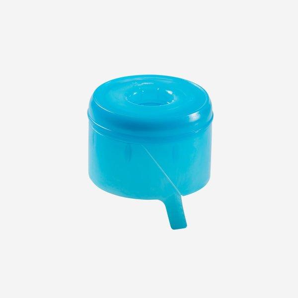 Verschluss für Wasserbehälter, blau