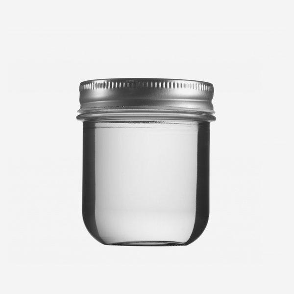 VITA Schraubglas 220ml, Weißglas, Mdg.: TW70