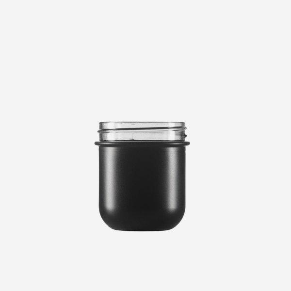 VITA üveg,220 ml,fekete,szájforma: Twister 70