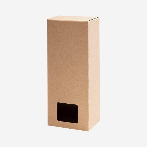 Blitzbodenbox, Fenster, braun, L6,5 x B4,5 x H14,5