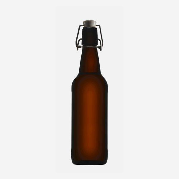 Bügelbierflasche 500ml, Braunglas, Mdg.: Bügel