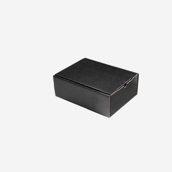 Geschenkkarton schwarz 22,5x18x10cm