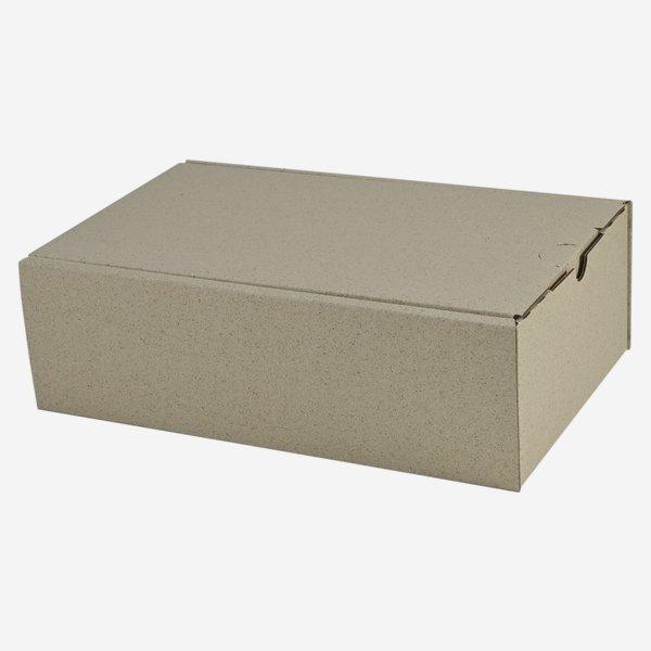 Geschenkkarton aus Graspapier  26x16x8cm