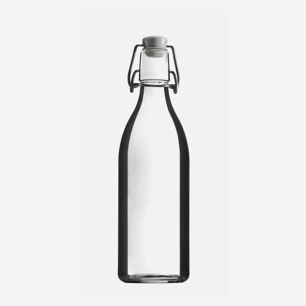 LANDHAUS Bügelflasche 500ml, Weißglas, Mdg.: Bügel
