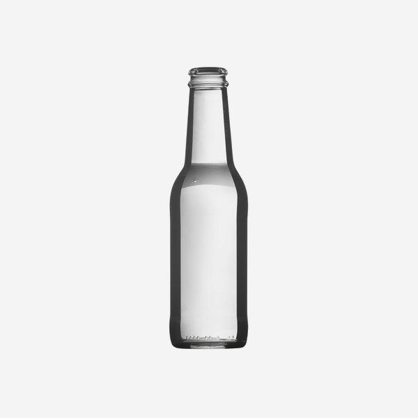 Longneck 200ml, Weißglas, Mdg.: CC