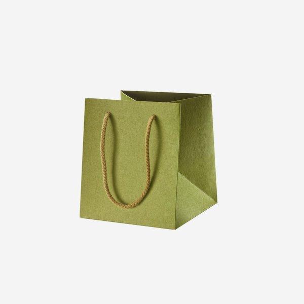 Geschenktragetasche, grün, 160/160/180