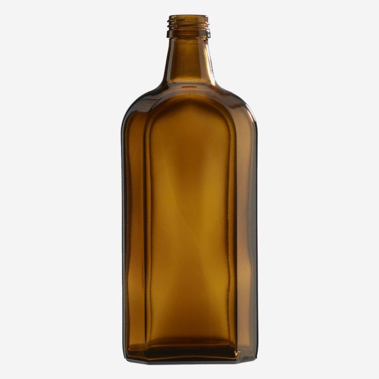 Elixirflasche 500 ml, Braunglas, Mdg.: PP 28